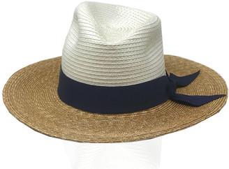 Gigi Burris Millinery Drake Tricolor Straw Fedora Hat