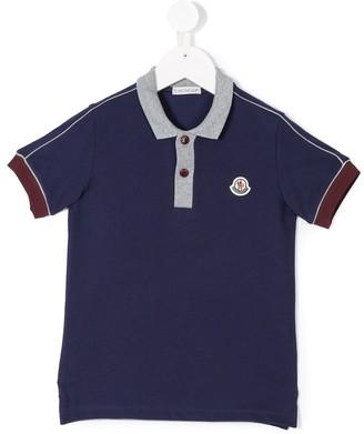 Moncler Enfant Logo Patch Polo Shirt