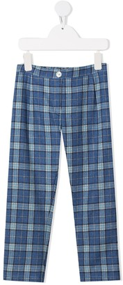 Siola Check Straight-Leg Trousers