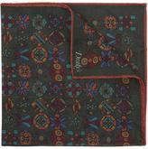 Drakes Geometric Print Pocket Square