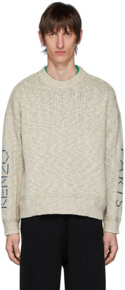 Kenzo Off-White Linen Paris Sweater