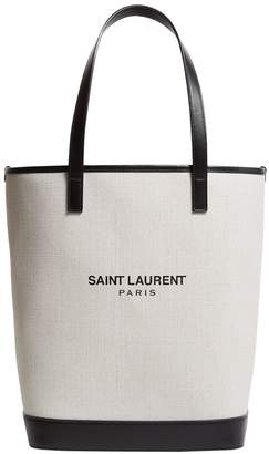 Saint Laurent Canvas Teddy Tote Bag