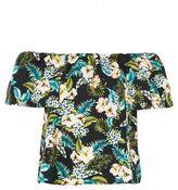Topshop Hawaiian print bardot top