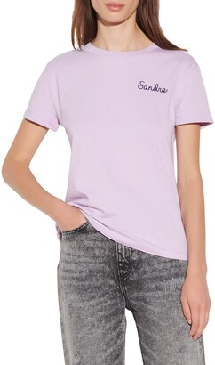 Sandro Logo Embroidered T-Shirt