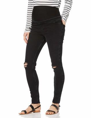 New Look Maternity Women's Venice Black Knee Skinny Jeans