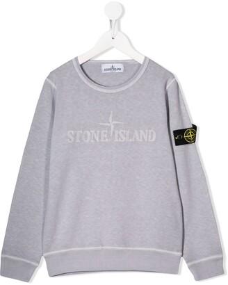 Stone Island Junior Logo-Embroidered Sweatshirt