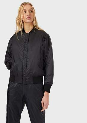 Emporio Armani Padded Bomber With Maxi Eagle On The Back