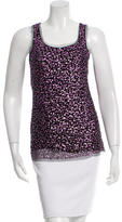 Gryphon Sequined Mesh Top