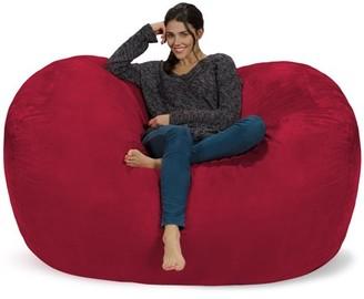 Chill Sack 6 ft Large Bean Bag Lounger, Multiple Colors/Fabrics