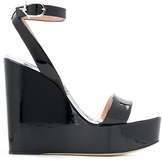 Giuseppe Zanotti Varnished Wedge Sandals