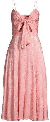 Jay Godfrey Sheila Tie Front Cutout Dress