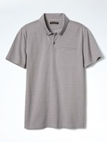 Banana Republic Slim Luxury-Touch Jacquard Polo