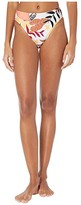 Roxy Pop Surf Hi-Leg Mid-Waist Bottoms (Bright White Nirantara) Women's Swimwear