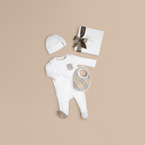 Burberry Check Cotton Three-piece Baby Gift Set