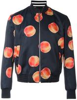 Paul Smith peach print bomber jacket