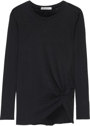 Stateside Twisted Slub Cotton-jersey Top