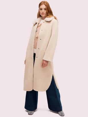 Kate Spade fur collar shearling coat
