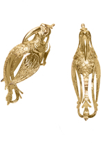 Josie Natori Gold Brass Small Bird Earrings