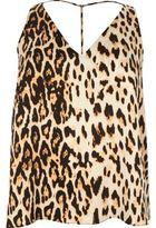 River Island Womens Plus leopard print T-bar cami top