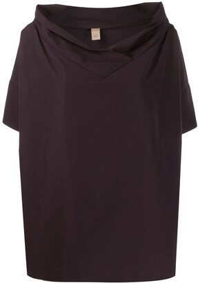 Romeo Gigli Pre Owned 1990s Oversized Collar Top