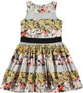 Molo Carli Poetry in Motion Poplin Dress, Pink, Size 2T-12