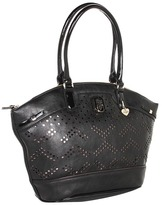 GUESS Tulissa Satchel (Black) - Bags and Luggage