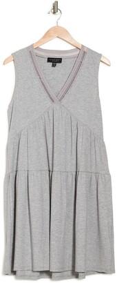 Laundry by Shelli Segal Ribbed V-Neck Dress