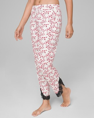 Soma Intimates Cool Nights Lace Ankle Pajama Pants