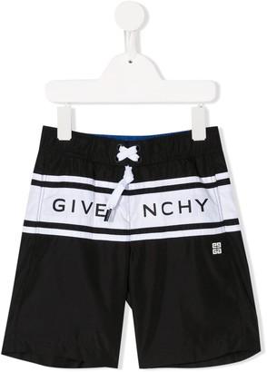 Givenchy Kids Logo Drawstring Swim Shorts
