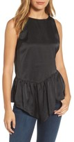 Halogen Women's Sleeveless Asymmetrical Ruffle Top