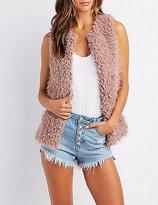 Charlotte Russe Shaggy Faux Fur Vest