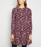 New Look Floral Spot Soft Touch Mini Smock Dress