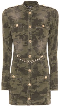 Balmain Camouflage stretch-cotton minidress