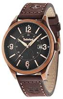 Timberland Men's Quartz Watch with Beige Dial Analogue Display and Brown Leather Strap TBL.14645JSQR/02