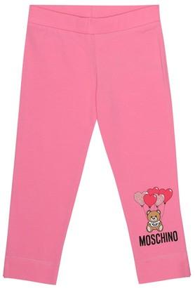 MOSCHINO BAMBINO Logo cotton pants