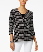 JM Collection Printed Single-Button Jacket, Only at Macy's