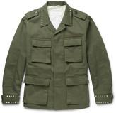 Valentino Studded Cotton-Canvas Field Jacket