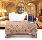 CLG-FLY Book box tissue box pastoral European resin fashion creative living room bathroom towel storage box