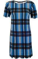 Select Fashion Fashion Womens Blue New Check Scallop Tunic Dress - size 6