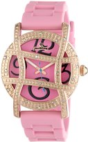 "JBW Women's JB-6241-H ""Olympia"" Sport Rose Gold Designer Silicone Diamond Watch"