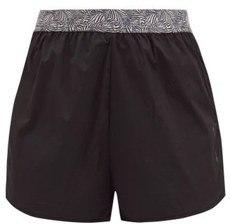 The Upside Zebra Running Shorts - Black Print