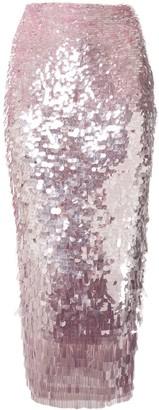 Rachel Gilbert Slim Fit Sequin-Embellished Skirt