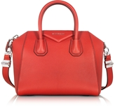 Givenchy Antigona Small Red Leather Satchel Bag