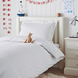 The White Company Scattered Star Bed Linen Set, Multi, Cot Bed