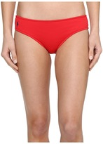 Polo Ralph Lauren Ruffle Solids Ruched Drew Cheeky Hipster Women's Swimwear