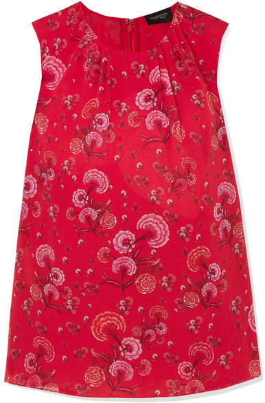 Giambattista Valli Floral-print Silk-georgette Blouse - Red