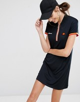Ellesse Dress With Half Zip Tape And Woven Badges