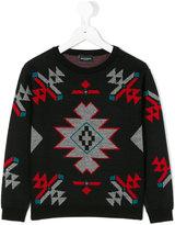 Marcelo Burlon County Of Milan Kids - geometric print jumper - kids - Acrylic/Cashmere/Merino - 2 yrs