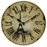 Infinity Instruments Eiffel Tower Wall Clock