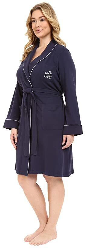 Thumbnail for your product : Lauren Ralph Lauren Plus Size Essentials Quilted Collar and Cuff Robe